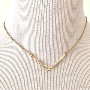 Canvas Jewelry Wire Wrap Chevron Pendant Necklace